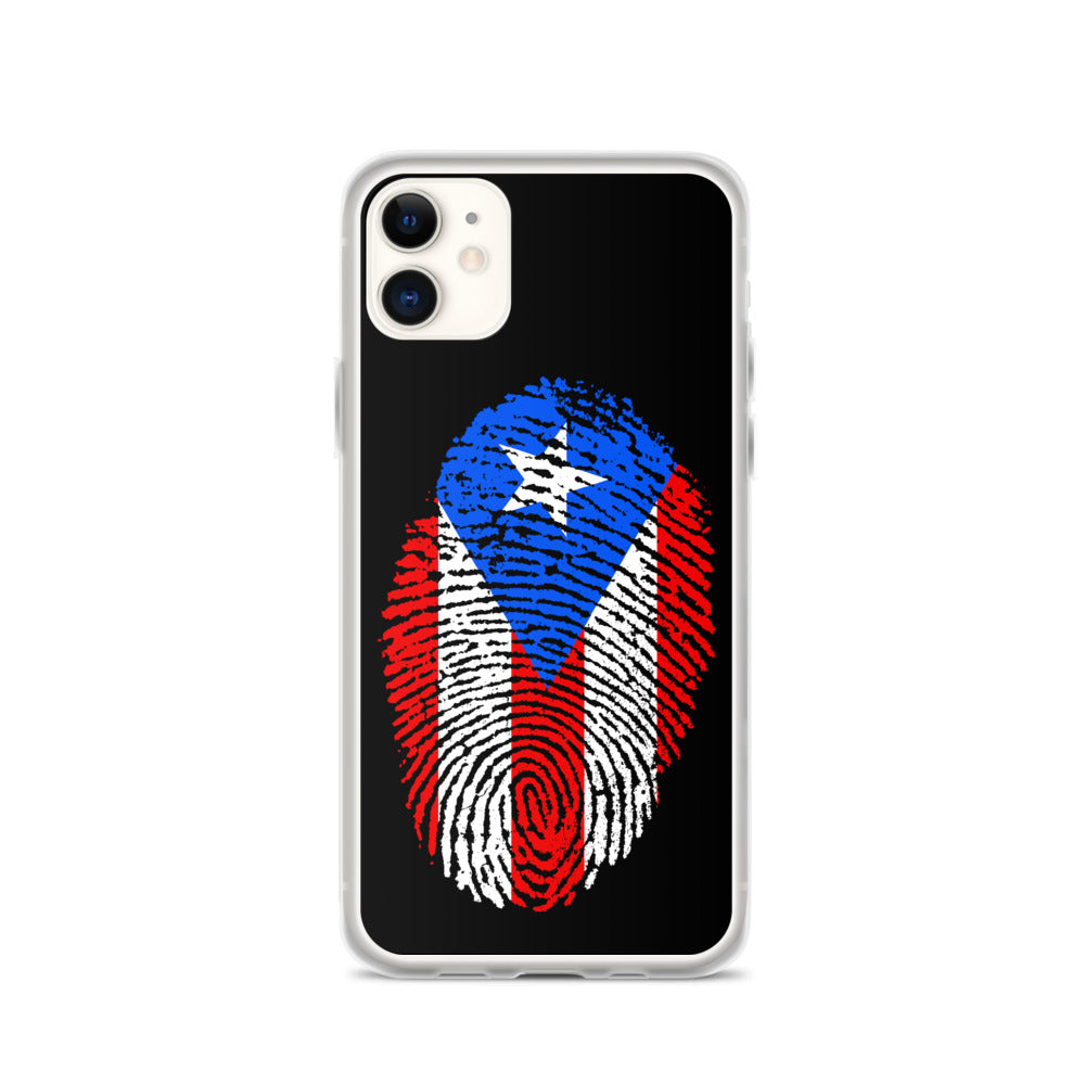 F - Puerto Rican Flag Thumbprint iPhone Case
