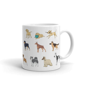 A - I just want to Drink Coffee and Rescue Dogs Mug