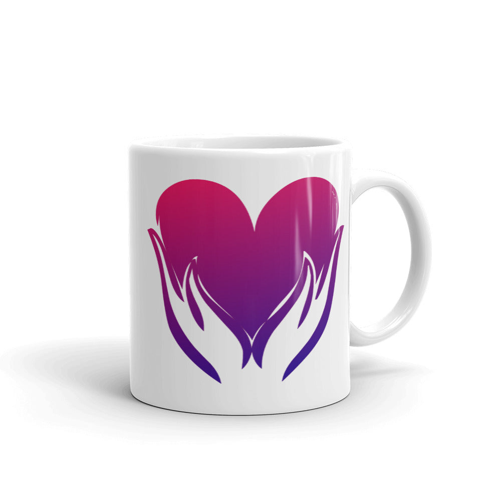 B- Healing Hands on Heart Mug