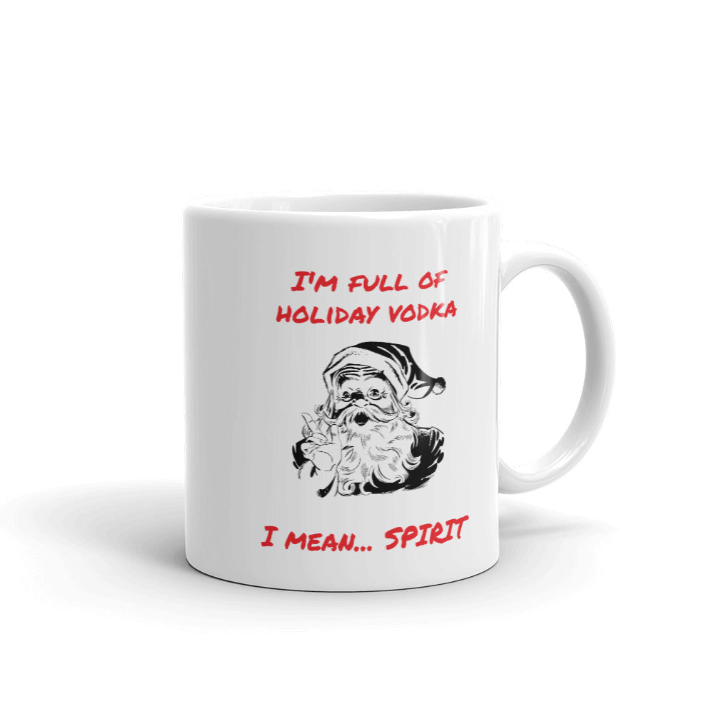 H - Full of Vodka Funny Christmas Holiday Mug