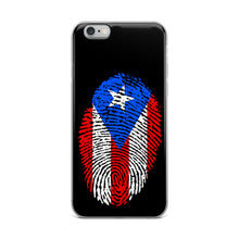 Load image into Gallery viewer, F - Puerto Rican Flag Thumbprint iPhone Case