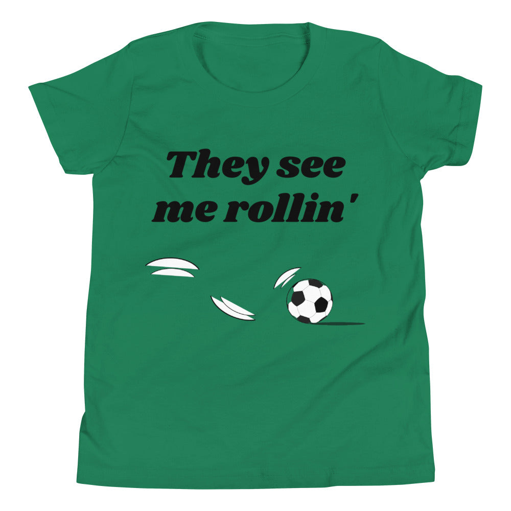 Y3 - They See Me Rollin' Soccer Youth Short Sleeve T-Shirt