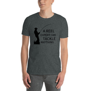 D10 - A REEL expert can TACKLE anything Fishing Short-Sleeve Unisex T-Shirt
