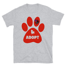Load image into Gallery viewer, Adopt Paws Logo Short-Sleeve Unisex T-Shirt
