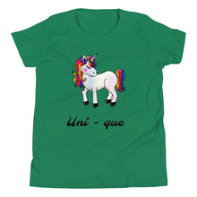 Load image into Gallery viewer, Y8 - Unicorn Unique Youth Short Sleeve T-Shirt