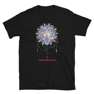 Angel Guided Healing - Mandala Dream Catcher Short-Sleeve Unisex T-Shirt