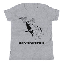 Load image into Gallery viewer, Y6 - Bas-cat-ball funny basketball Youth Short Sleeve T-Shirt
