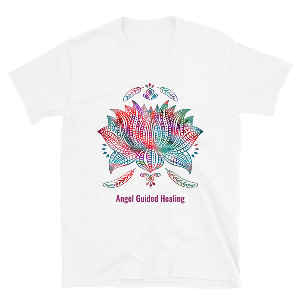 Angel Guided Healing - Lotus Mandala Short-Sleeve Unisex T-Shirt