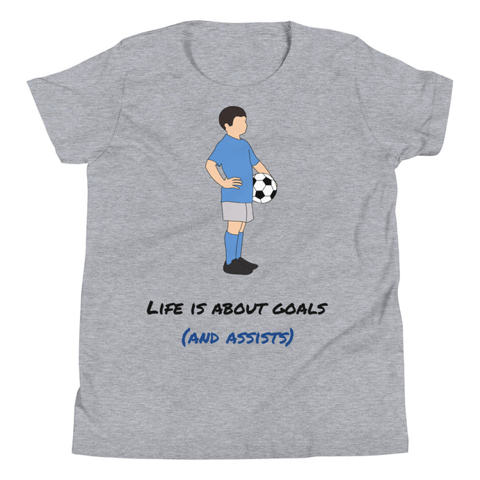 Y3 - Life is about goals funny soccer Youth Short Sleeve T-Shirt