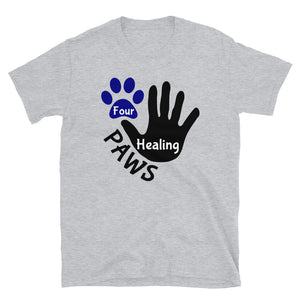 Four Healing Paws Logo Short-Sleeve Unisex T-Shirt