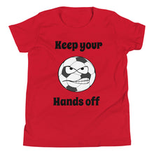 Load image into Gallery viewer, Y3 - Funny Soccer Hands Off Youth Short Sleeve T-Shirt