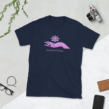 Load image into Gallery viewer, Angel Guided Healing -  Lotus Hand Short-Sleeve Unisex T-Shirt