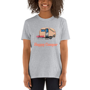 D13 Happy Camper Funny Trailer Short-Sleeve Unisex T-Shirt