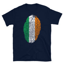 Load image into Gallery viewer, F4 - Irish Flag Fingerprint Short-Sleeve Unisex T-Shirt