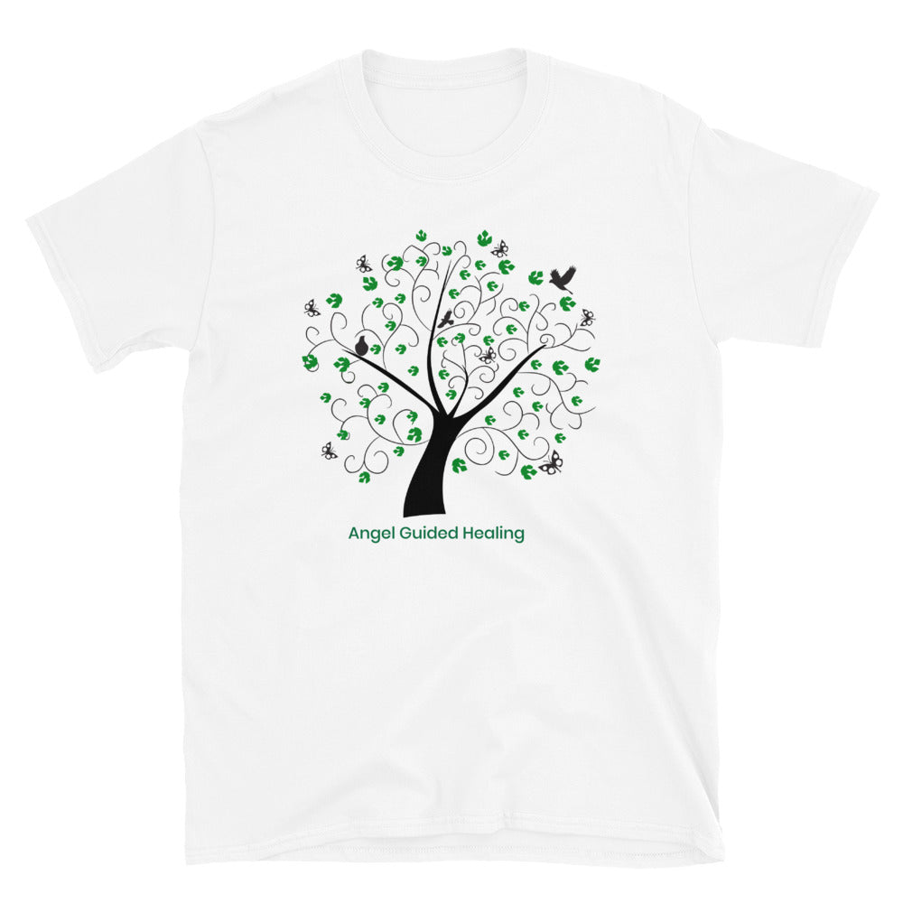 Angel Guided Healing - Green Tree of Life Birds Short-Sleeve Unisex T-Shirt