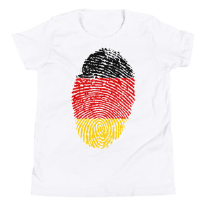 F5 - German Flag Fingerprint Youth Short Sleeve T-Shirt