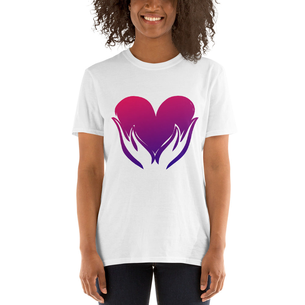 B - Healing Hands on Heart Short-Sleeve Unisex T-Shirt