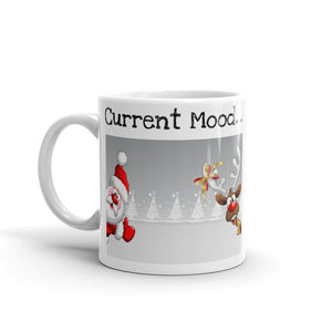 H - Current Mood Santa & Reindeer Mug