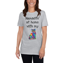 Load image into Gallery viewer, A - Namaste at home with my cat Short-Sleeve Unisex T-Shirt