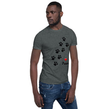 Load image into Gallery viewer, A - Love Paws Pet Short-Sleeve Unisex T-Shirt