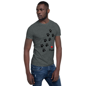 A - Love Paws Pet Short-Sleeve Unisex T-Shirt