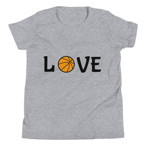 Y6 - Basketball Love Youth Short Sleeve T-Shirt