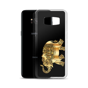 D5 - Golden Patchwork Elephant Samsung Case