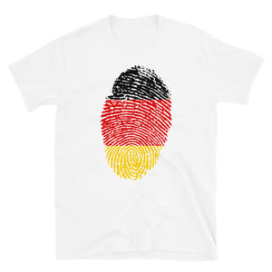 F5 - German Flag Fingerprint Short-Sleeve Unisex T-Shirt