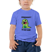 Load image into Gallery viewer, Y1 - I'm Vewy Scawy Dinosaur Toddler Short Sleeve Tee