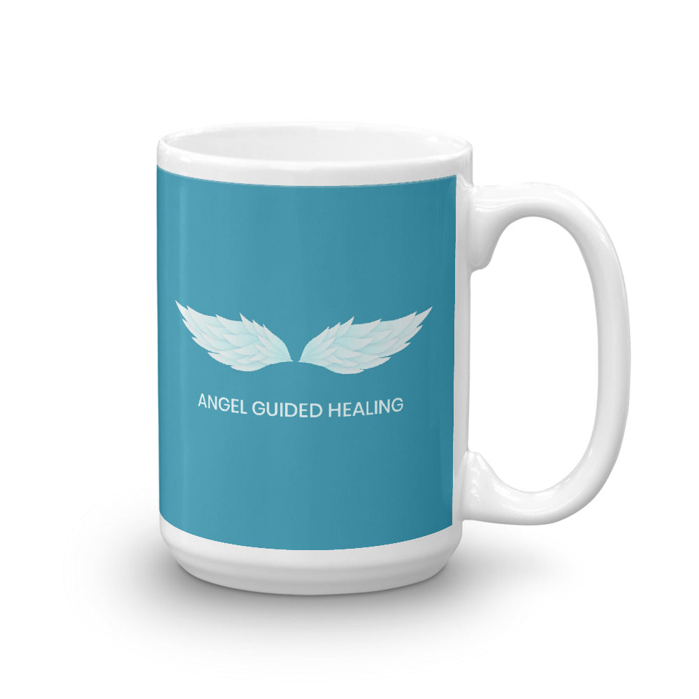 1- Angel Guided Healing - Teal Wings Mug