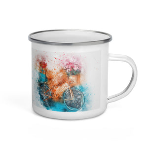 Bicycle 10 Enamel Mug