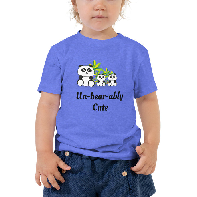X4 - Unbearably Cute Toddler Short Sleeve Tee