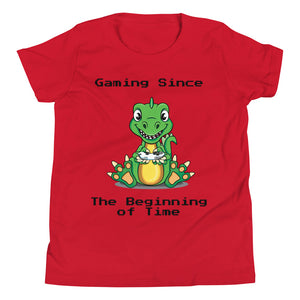 Y1 - Dinosaur Funny Gaming Youth Short Sleeve T-Shirt