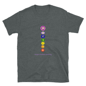 Angel Guided Healing - Chakras Short-Sleeve Unisex T-Shirt