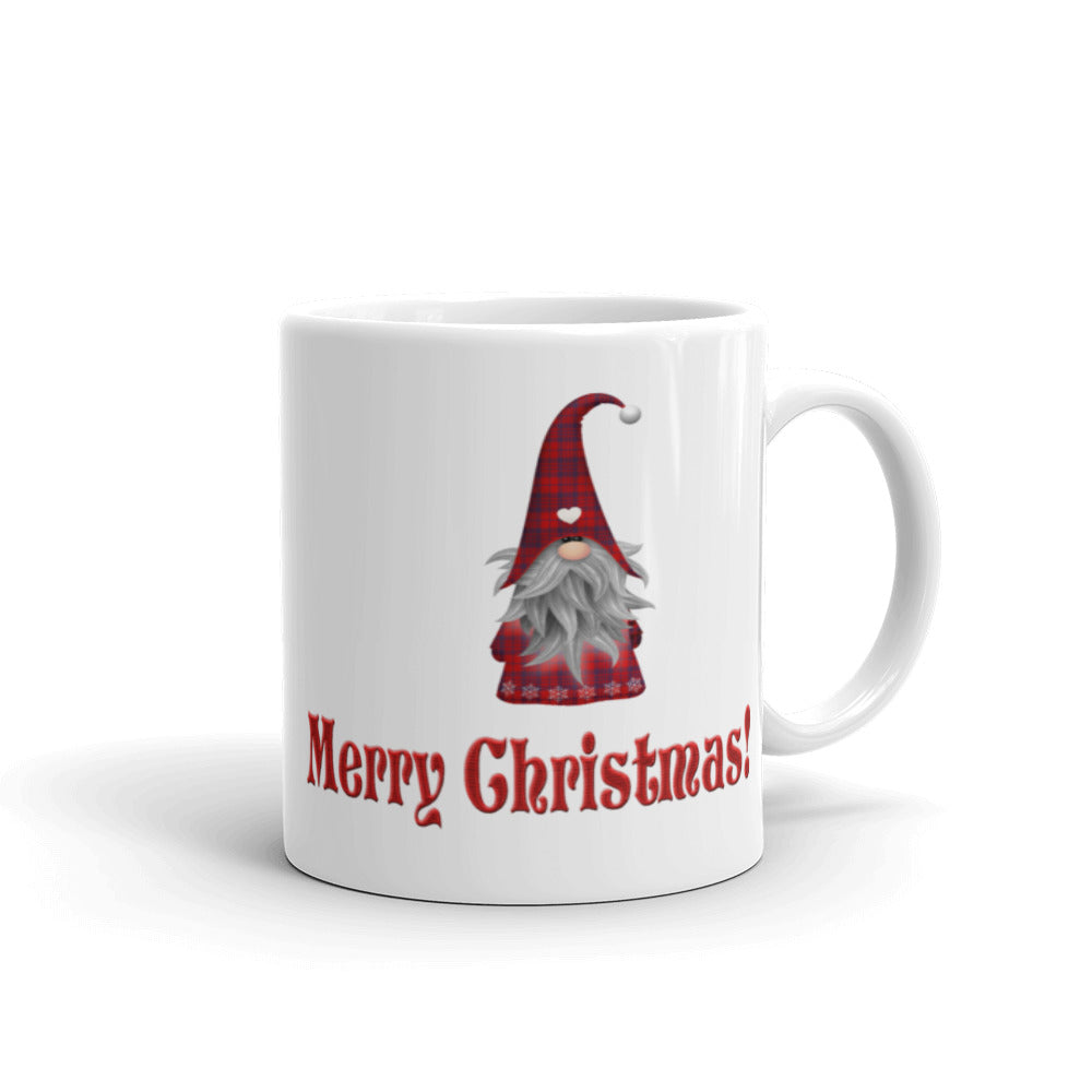H - Merry Christmas Gnome Holiday Mug