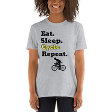 Load image into Gallery viewer, D6 - Eat Sleep Cycle Repeat Short-Sleeve Unisex T-Shirt