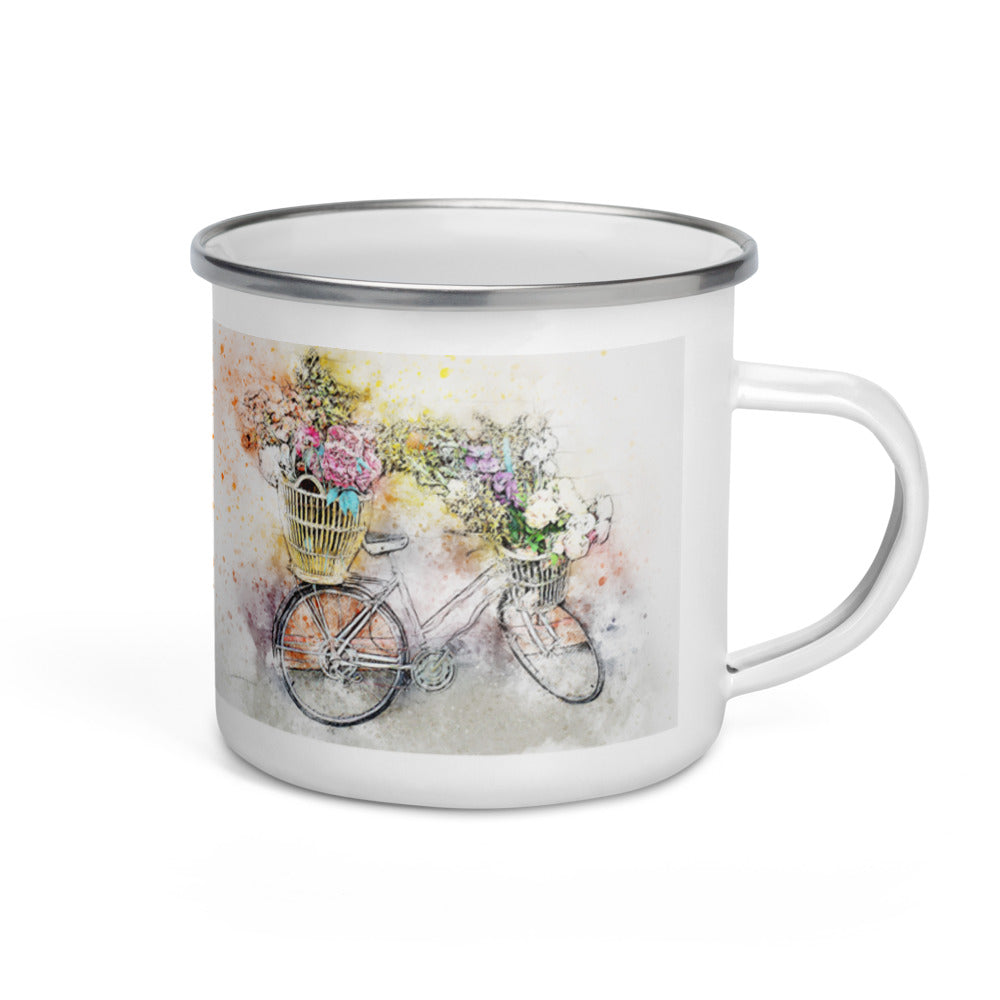 Bicycle 9 Enamel Mug