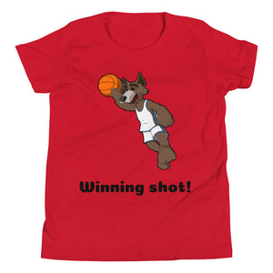 Y6 - Winning Shot Basketball Youth Short Sleeve T-Shirt