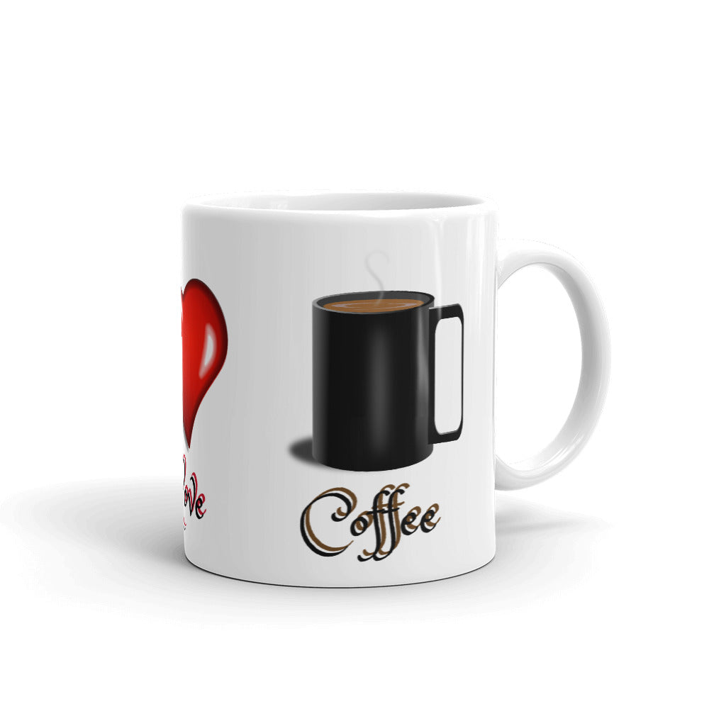B - Light Love and Coffee Mug