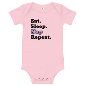 X - Eat Sleep Nap Repeat Purple - Onesie