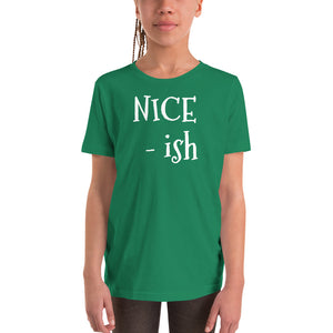 Y - NICE - ish Holiday Youth Short Sleeve T-Shirt