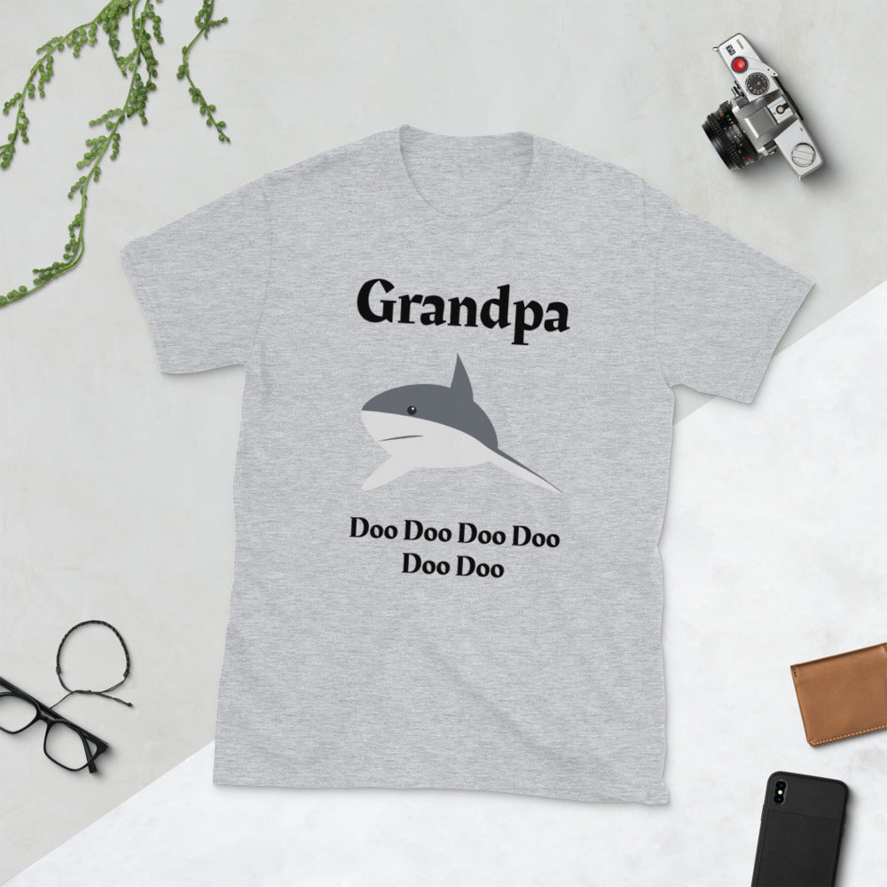 D10 - Grandpa Shark Doo Short-Sleeve Unisex T-Shirt