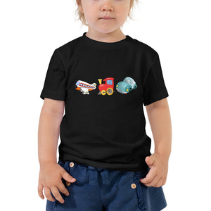 X3 - Planes Trains Automobiles Cute Toddler Short Sleeve Tee