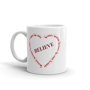 H - Believe Heart Mug