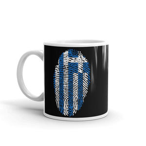 F3 - Greek Flag Fingerprint Mug