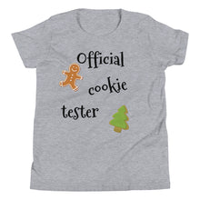 Load image into Gallery viewer, Y - Official Cookie Tester Youth Short Sleeve T-Shirt