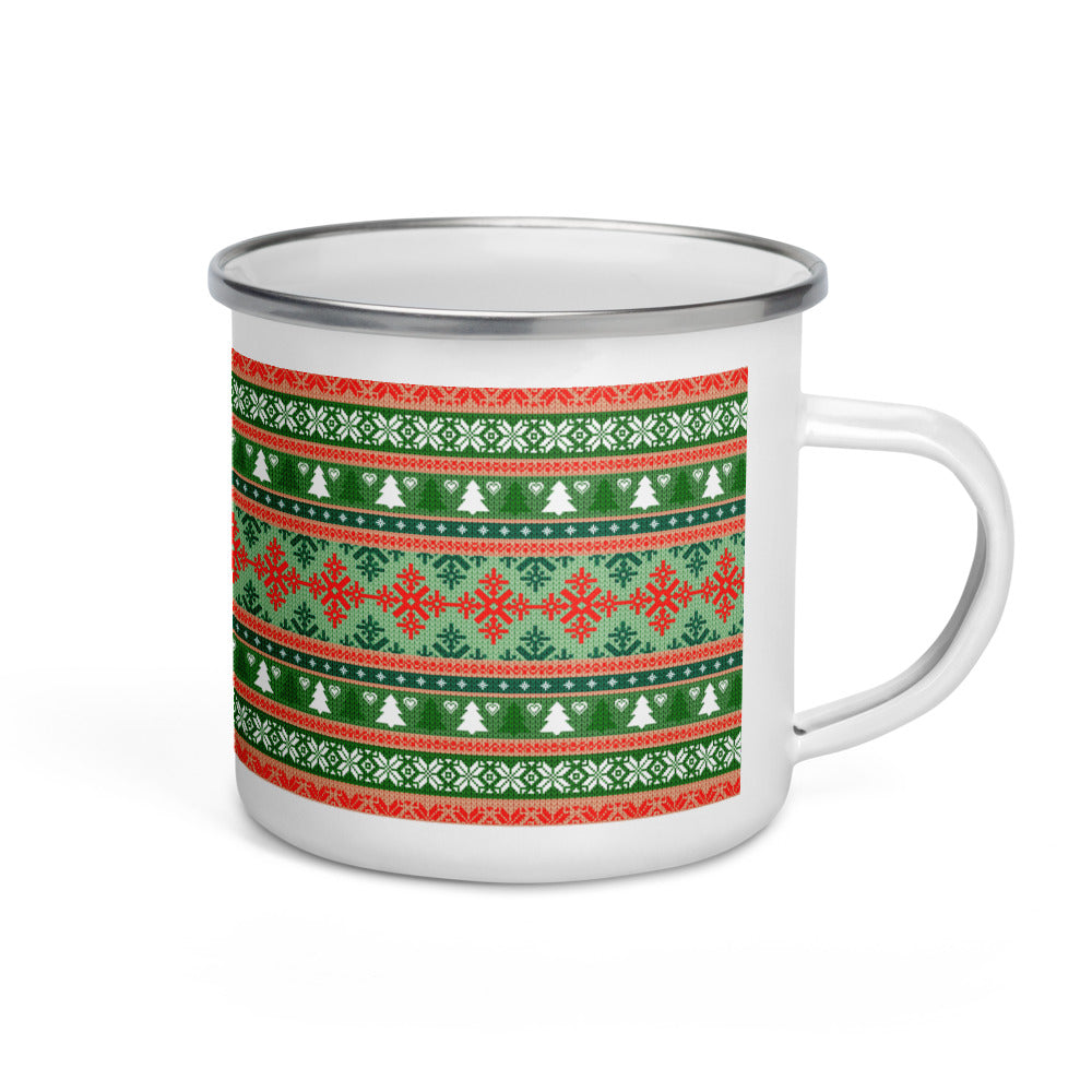 Ugly Sweater Enamel Mug