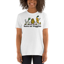 Load image into Gallery viewer, V1 - Runs on Veggies Vegan Short-Sleeve Unisex T-Shirt