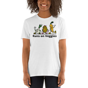 V1 - Runs on Veggies Vegan Short-Sleeve Unisex T-Shirt