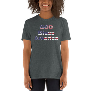 C- God Bless America Short-Sleeve Unisex T-Shirt